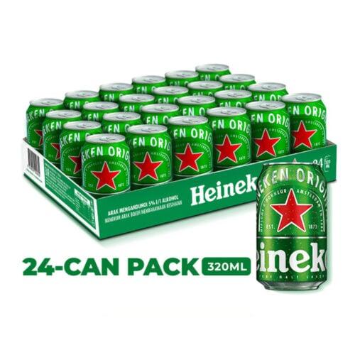 HEINEKAN 24 Can Pack Lager Beer (320ml x 24)