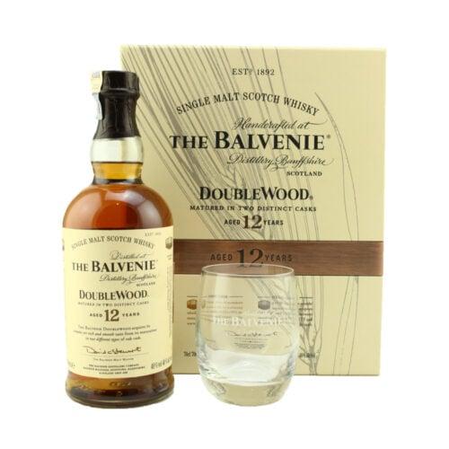 THE BALVENIE 12 Years Old Doublewood Single Malt Whisky Gift Set