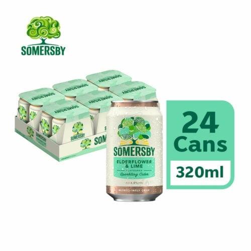 SOMERSBY Elderflower Lime Can (320ml x 24)