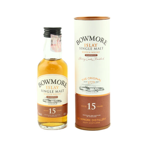BOWMORE 15 Year Old Darkest Miniature