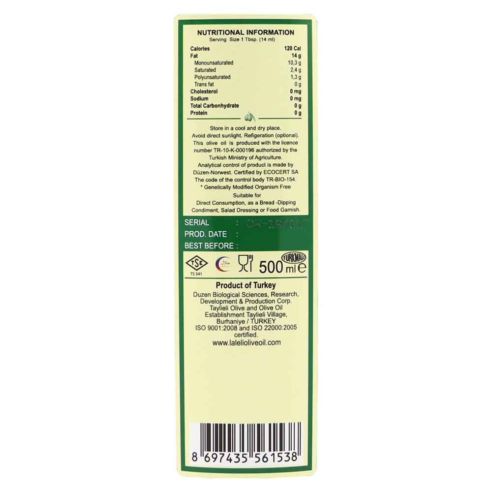LALELI Organic Extra Virgin Olive Oil