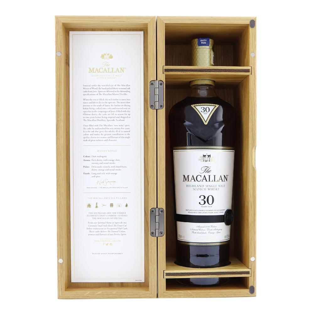 MACALLAN 30 Year Old Sherry Oak 2018 Release Inner Box