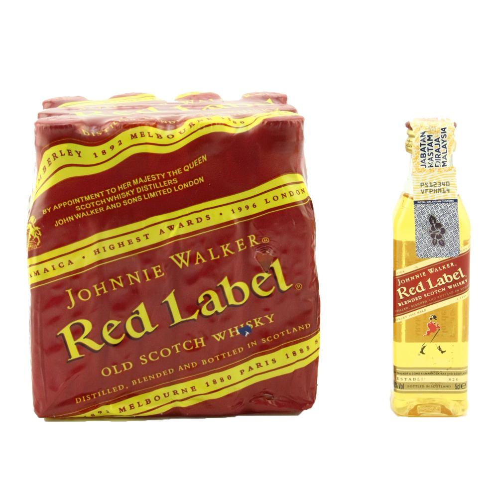 Red Label Johnnie Walker Miniature 50ml x 12packs