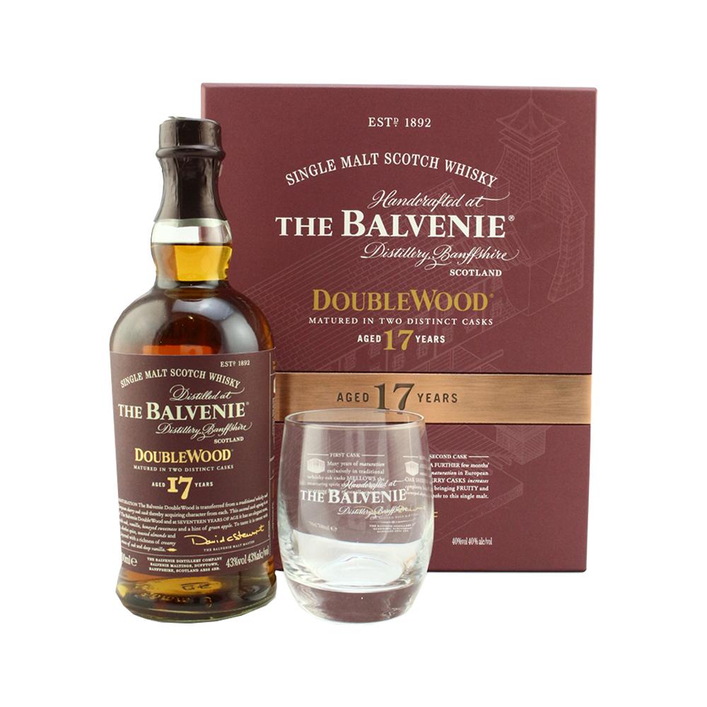 Balvenie doublewood single malt scotch whiskey